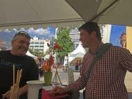 Producer Philippe Bovet, Swiss Wine Exporters Association head Nicolas Shorderet