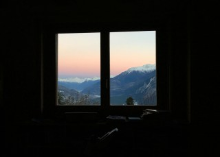 Day's end, another view, Valais and the Swiss Alps. Tomorrow: walk one hour.