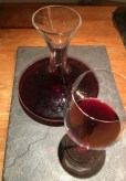 Wine producer Diserens advised us to carafe his Syrah, so we did, and did not regret it.