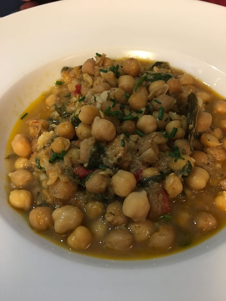 Barcelona lunch chick peas rabbit_101117