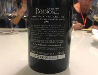 wine red Italy Montefalco Antonelli Chiusa di Pannone_261017