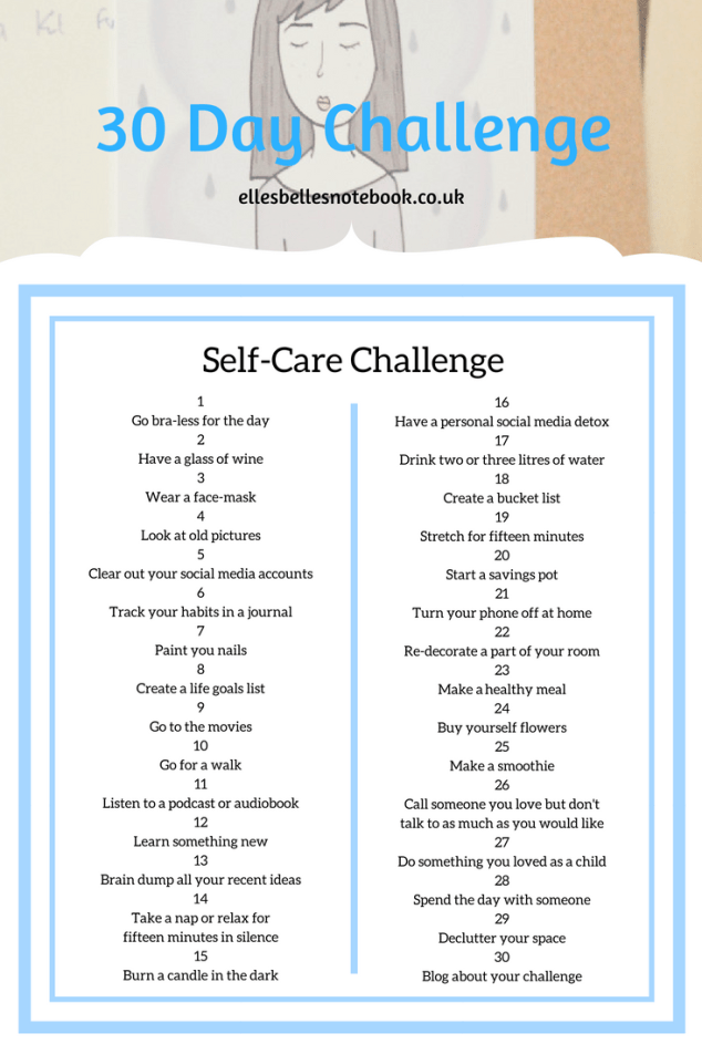 self care 30 day challenge