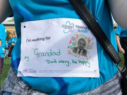 For my Grandad Memory Walk