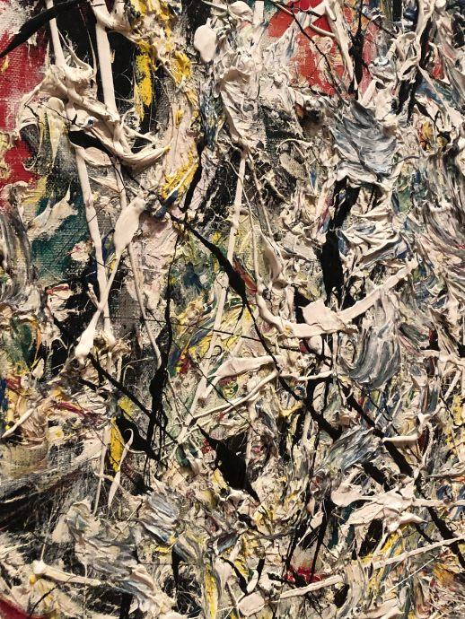 Jackson Pollock up close