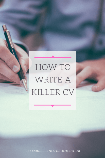 How to write a killer CV Pinterest image