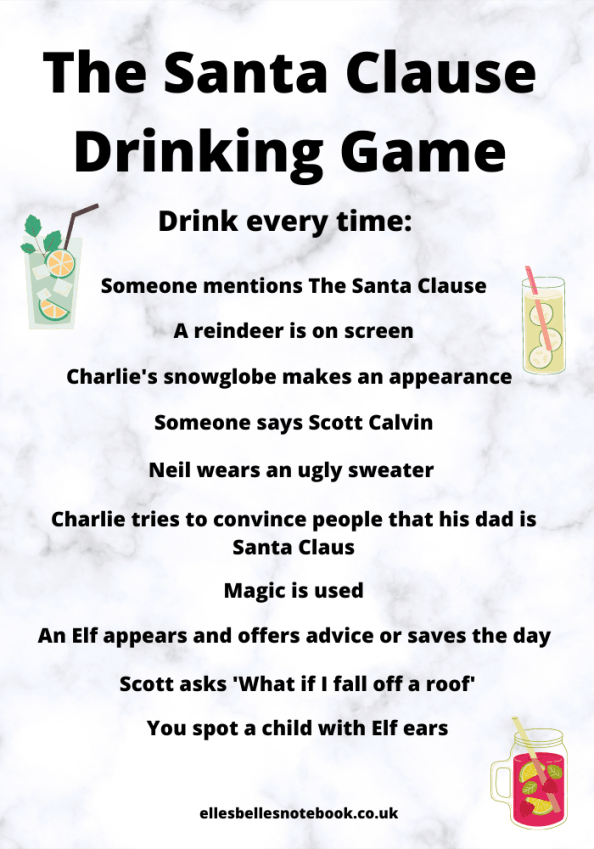 The Santa Clause Drinking Game