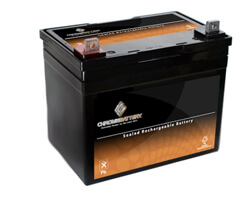 Chrome Lawnmower Battery