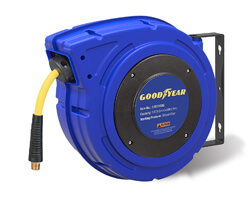 Goodyear Enclosed Retractable Air Compressor, Goodyear Water Hose Reel