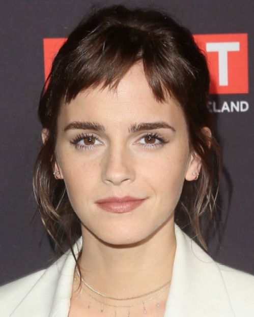 Image result for Emma Watson micro fringe