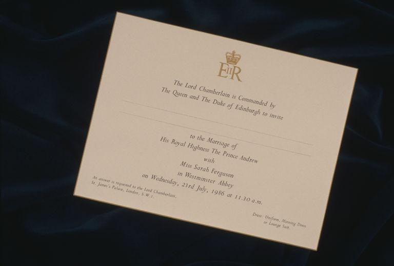 Royal Wedding Invitations Elle Uk