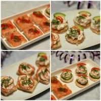 Nytårsforret: 4 slags kanapeer med fisk og skaldyr