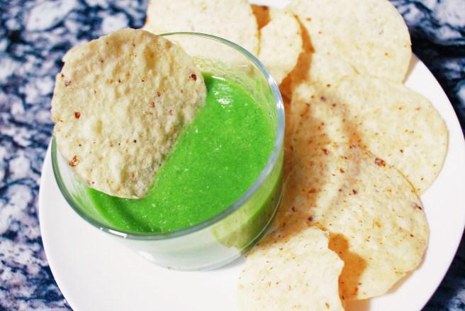 Chips and salsa verde cruda. Enjoy!