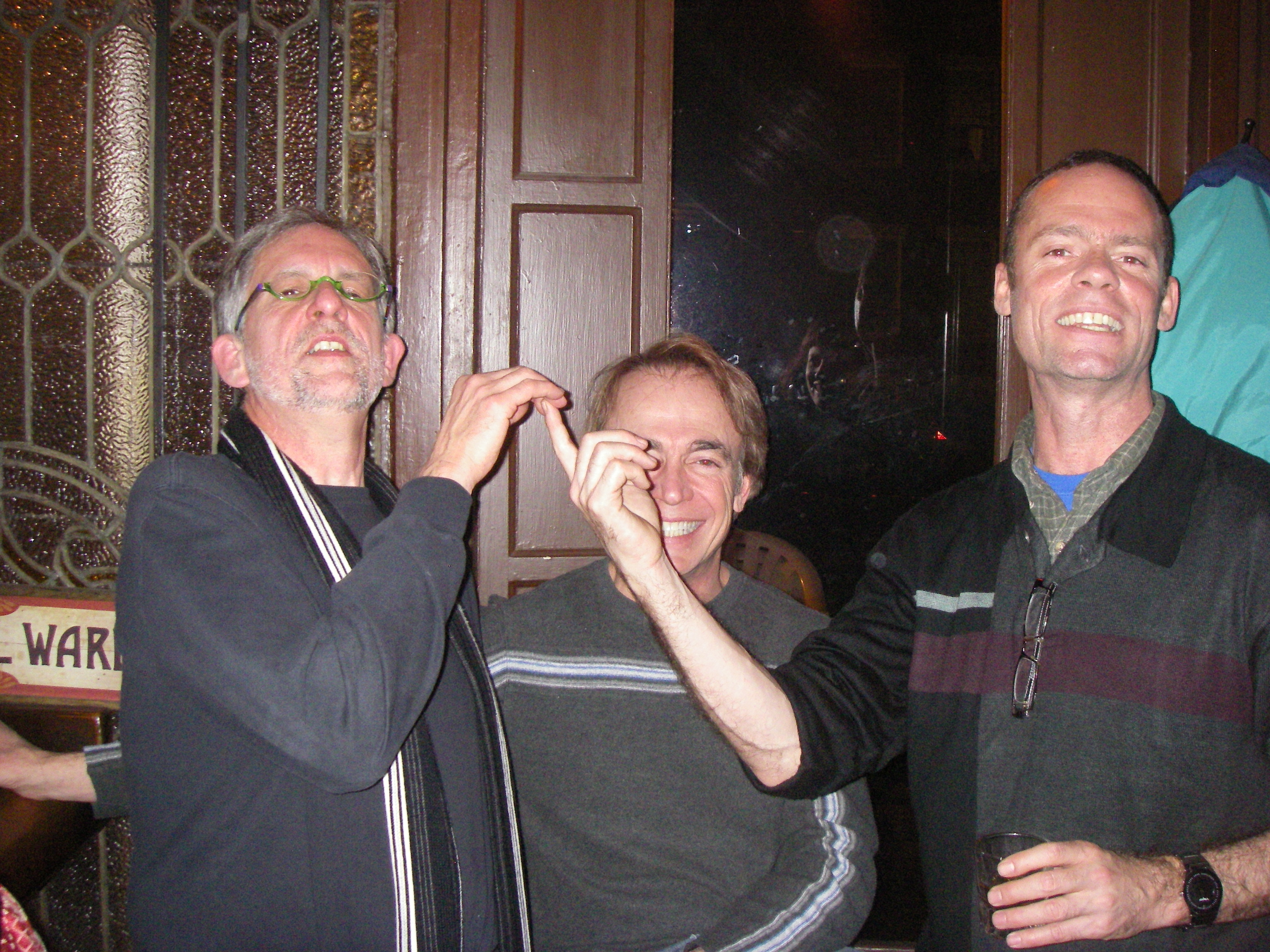 Lou, Chuck and Bruce, at Mr Henry's