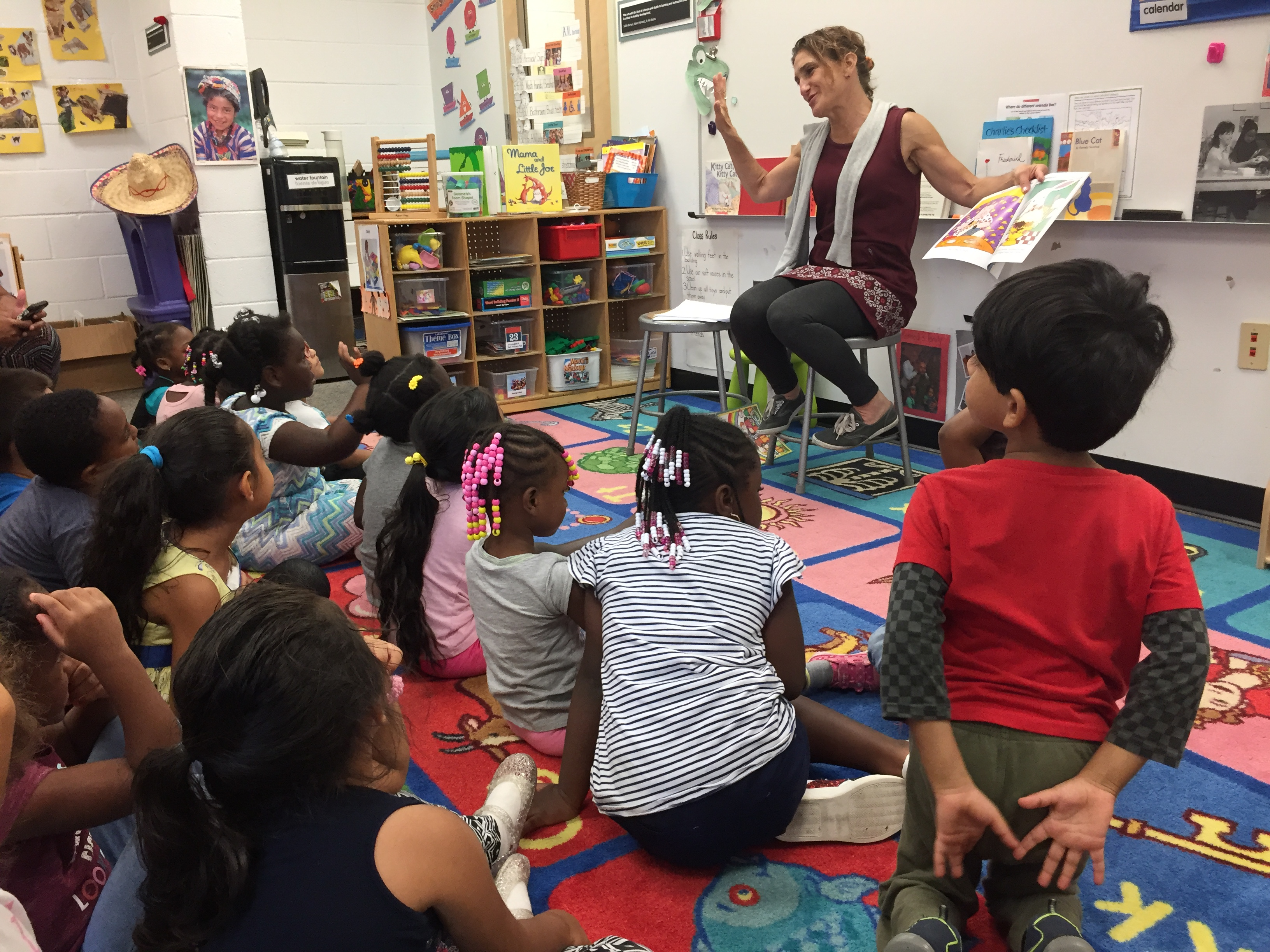 Reading to Students at Head Start