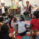 Reading to Students at Head Start School
