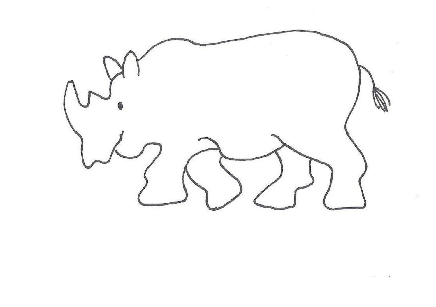 rhino printable coloring pages