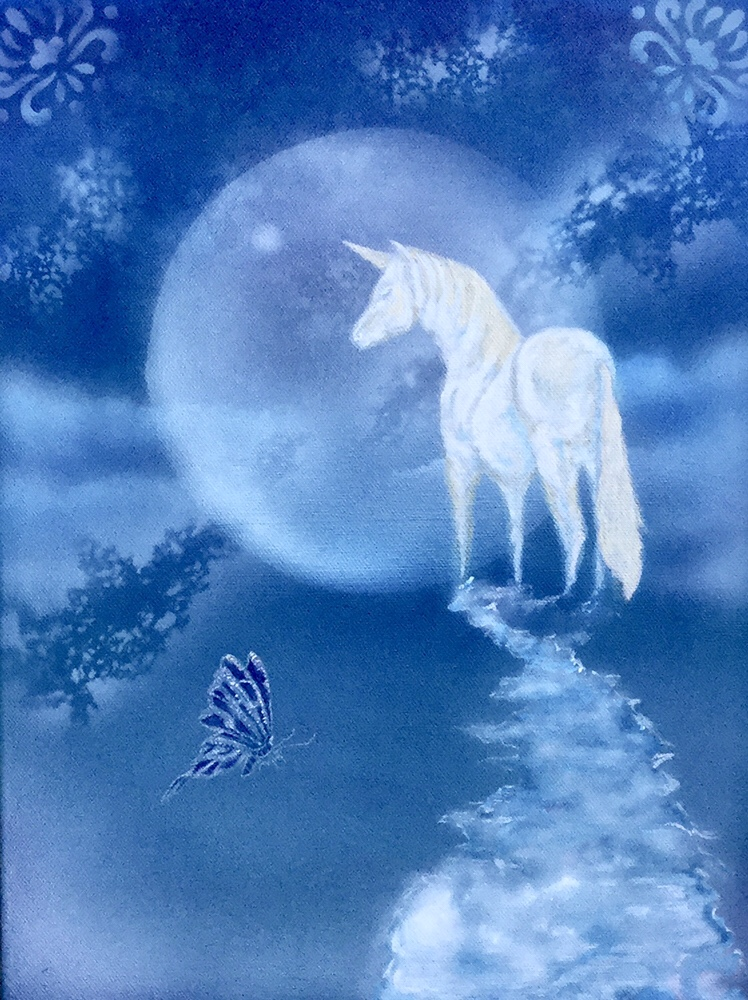 Moonlight Unicorn in Acrylic