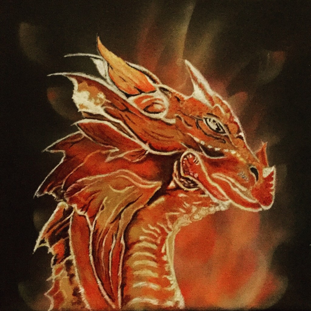 Dragon Painting in Acrylic