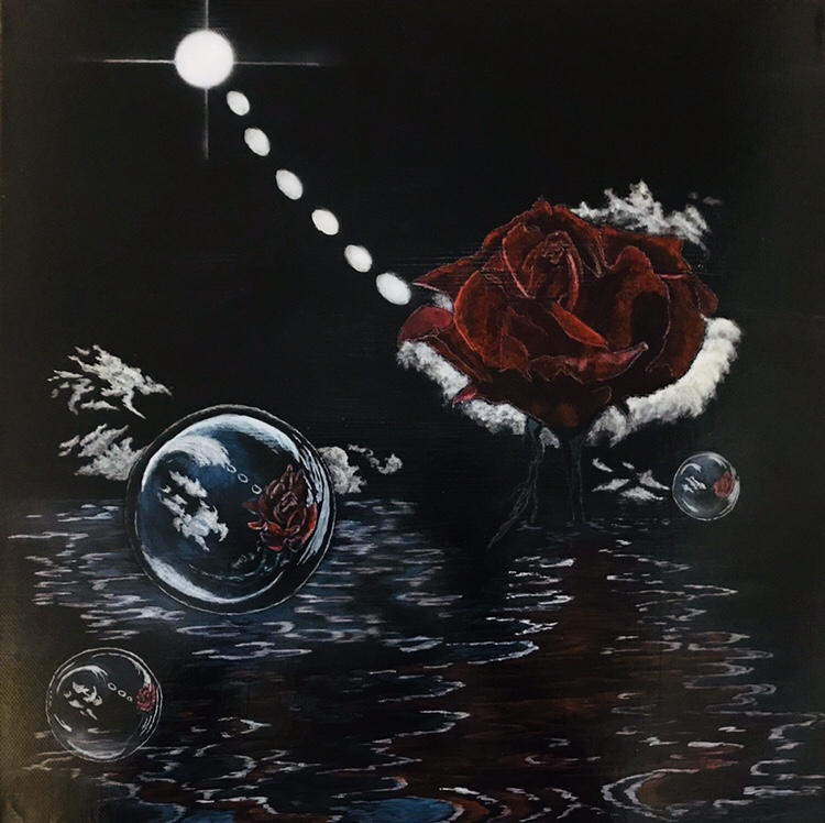 Reflections Surreal Acrylic Painting