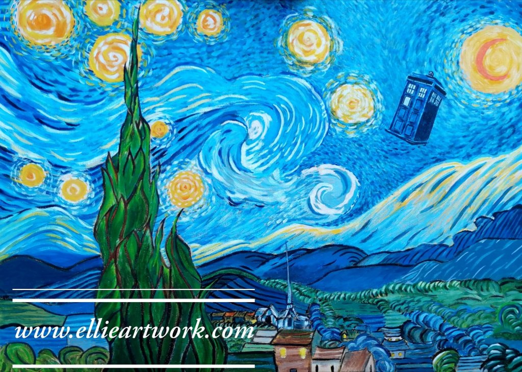 Dr Who meets Van Gogh
