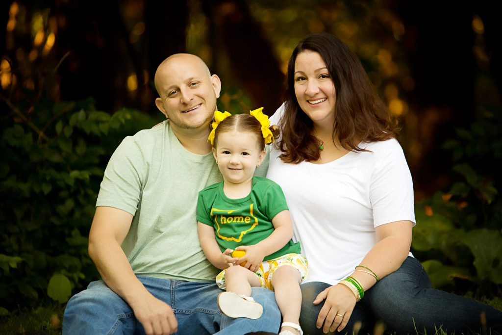 The A Family at their family portrait session in Beachwood