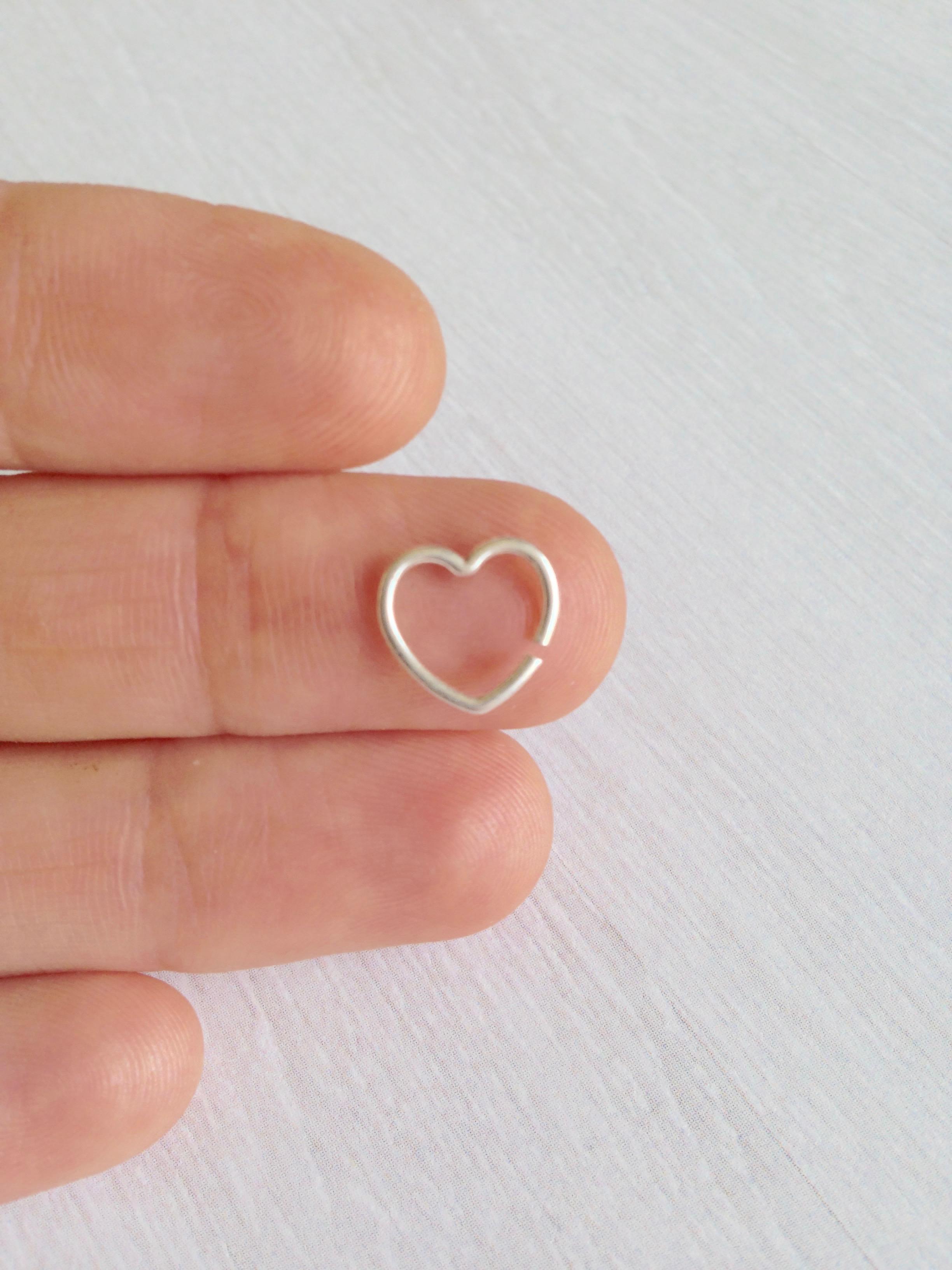 Heart Shape Cartilage Earring