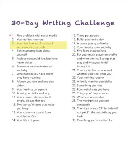 30 day writing challenge