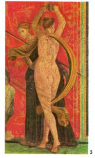 Dancing Bacchante. Wall painting from the Villa of the Mysteries, Pompeii. Late 1st century BC. P42.