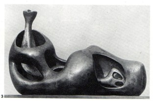 Henry Moore (b.1898): Reclining Figure. Bronze. 1951. Private Collection. p300