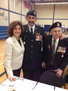 Two Jewish Canadian war veterans
