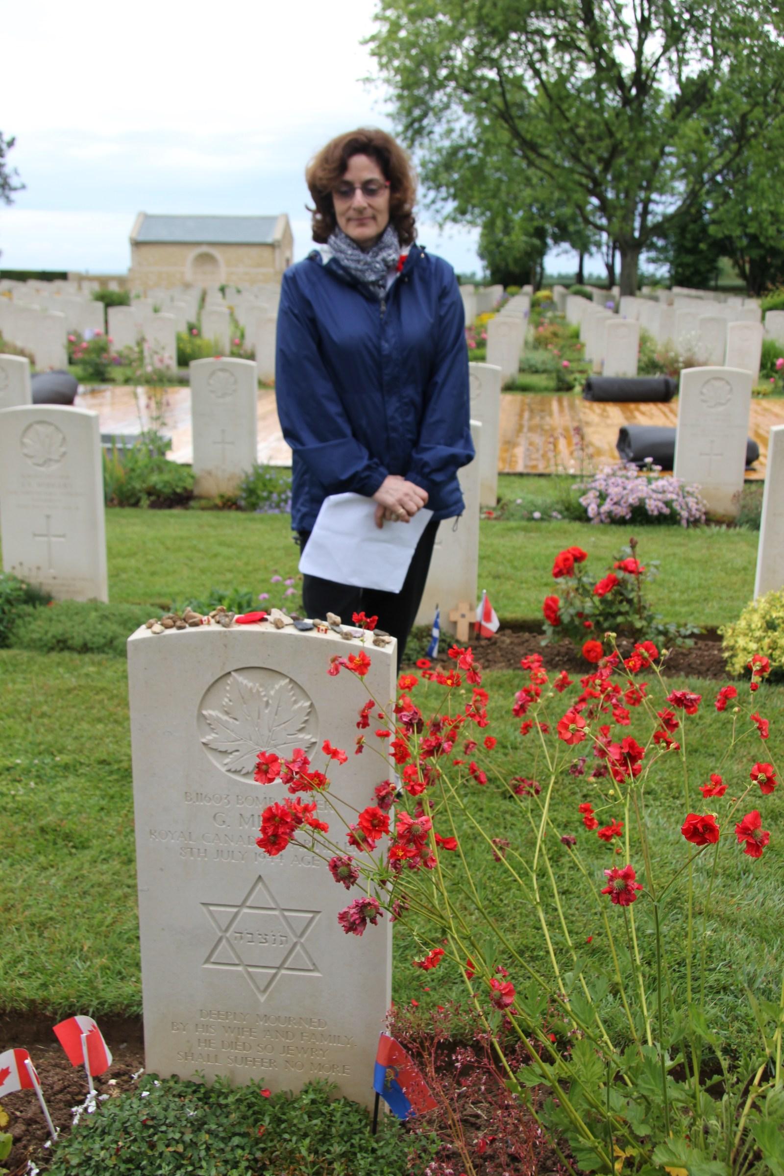 Jewish WWII soldier's gravestone in Beny Sur Mer Cemetery
