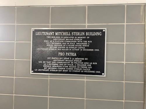 Lt. Mitchell Sterlin building at CFB Petawawa