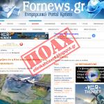 Η Κίνα κατέρριψε αεροπλάνο αεροψεκασμού HOAX