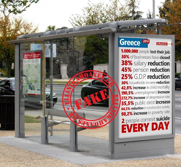 Η ωμή αλήθεια για την Ελλάδα σε μια στάση λεωφορείου στο Λονδίνο!