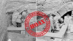 Καταρρίπτεται - Φωτογραφίες Βρετανών στρατιωτών που εισβάλουν στον τάφο της Αμφίπολης.