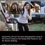 Καταρρίπτεται. Η ίδια κοπέλα-ηθοποιός σε 3 διαφορετικά «τρομοκρατικά» χτυπήματα