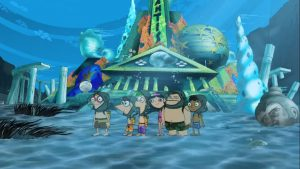 Posing_for_a_picture_in_front_of_Atlantis