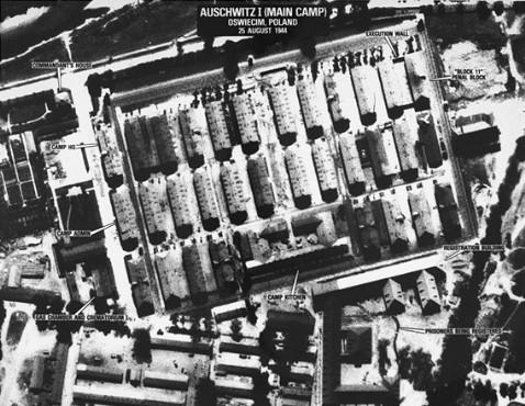 Αεροφωτογραφία του Άουσβιτς κατά τη διάρκεια του πολέμου