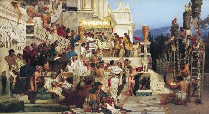 Οι δαυλοί του Νέρωνα. Πίνακας του Χένρυκ Σιμιράντζκι
