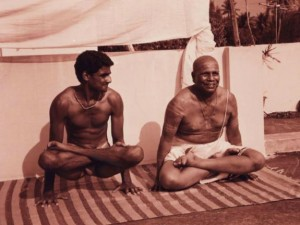 Ashtanga Yoga Propogators K. Pattabhi Jois and R. Sharath Jois