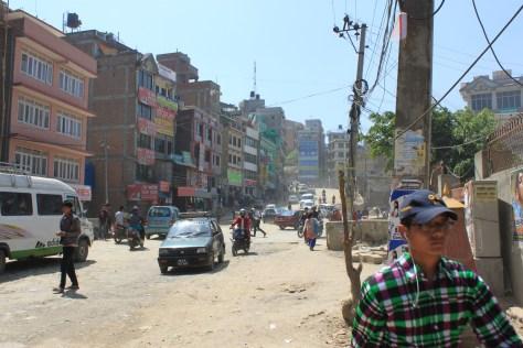 Dusty Kathmandu Street