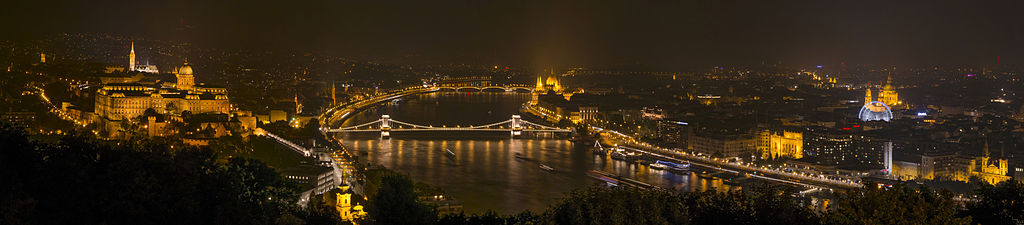 """""""Panoramic view of Budapest 2014"""" by Katonams - Own work. Licensed under CC BY-SA 4.0 via Wikimedia Commons - http://commons.wikimedia.org/wiki/File:Panoramic_view_of_Budapest_2014.jpg#/media/File:Panoramic_view_of_Budapest_2014.jpg"""