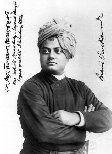 """Swami Vivekananda-1893-09-signed"" by Original uploader was Dziewa at en.wikipedia - Transferred from en.wikipedia. Licensed under Public Domain via Wikimedia Commons - https://commons.wikimedia.org/wiki/File:Swami_Vivekananda-1893-09-signed.jpg#/media/File:Swami_Vivekananda-1893-09-signed.jpg"