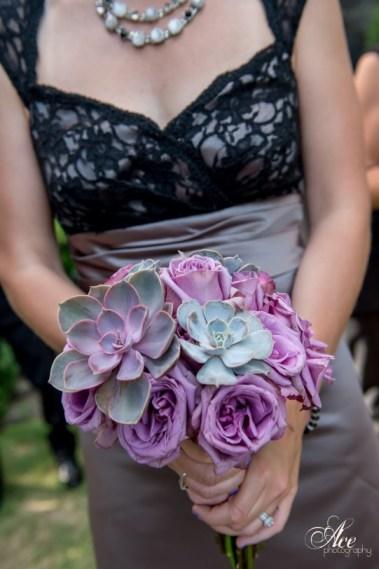 Succuclent Bouquet / Mauve purple