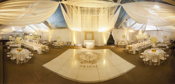 luxury tent wedding in Nashville
