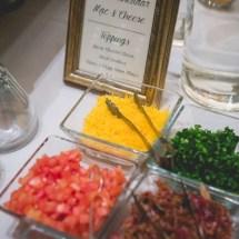 mashed potato bar, wedding food