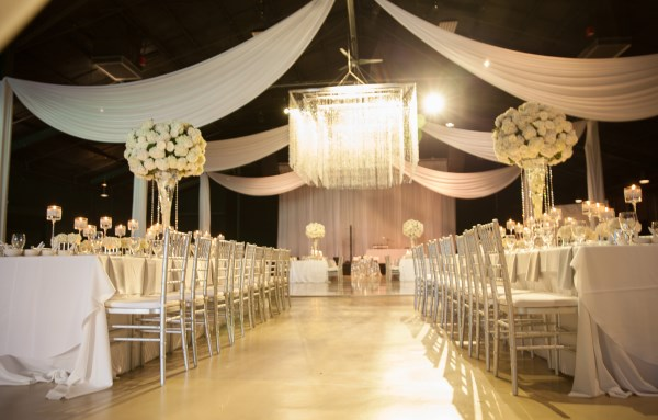 chandelier, centerpieces, white