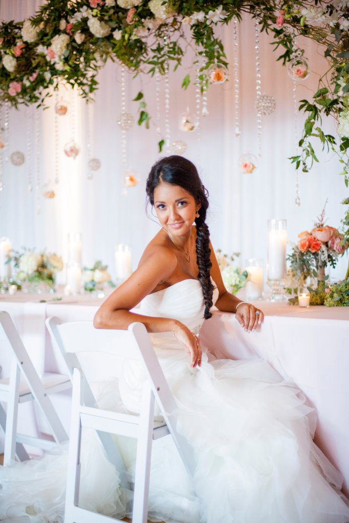 bride, reception, centerpiece