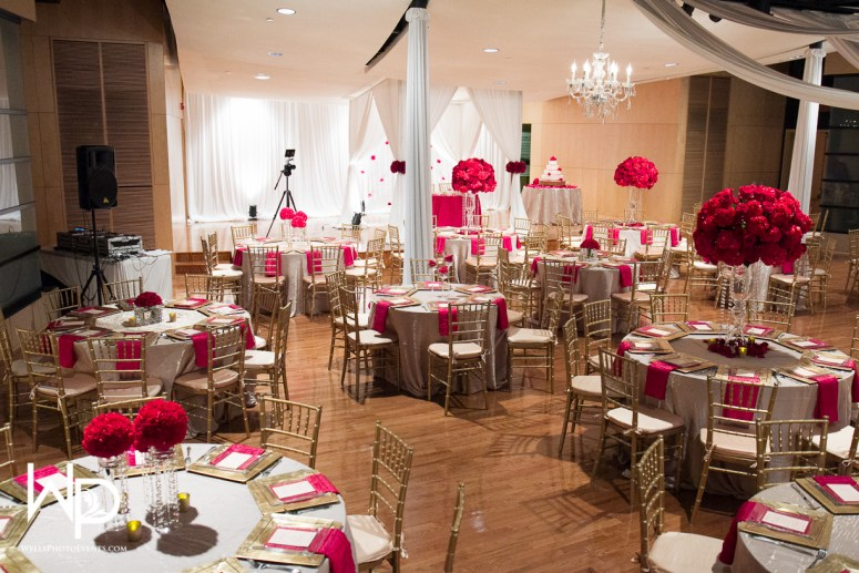 red, centerpieces, decor