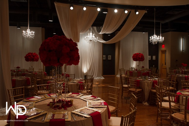 reception, nashville, red decor